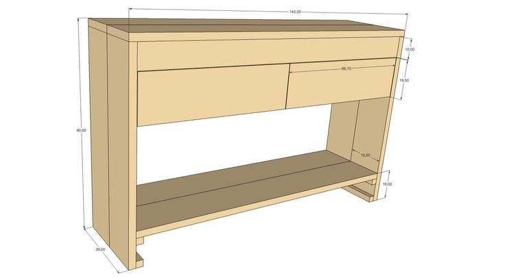Badkamer meubel gemaakt van steigerhout.
