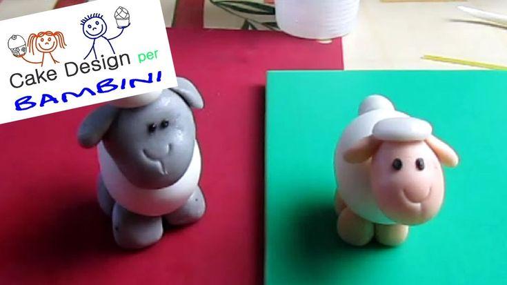 Pecorella in pasta di zucchero   Cake Design per Bambini
