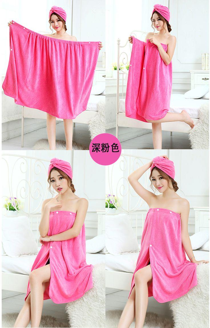 Pink bath wrap ^^