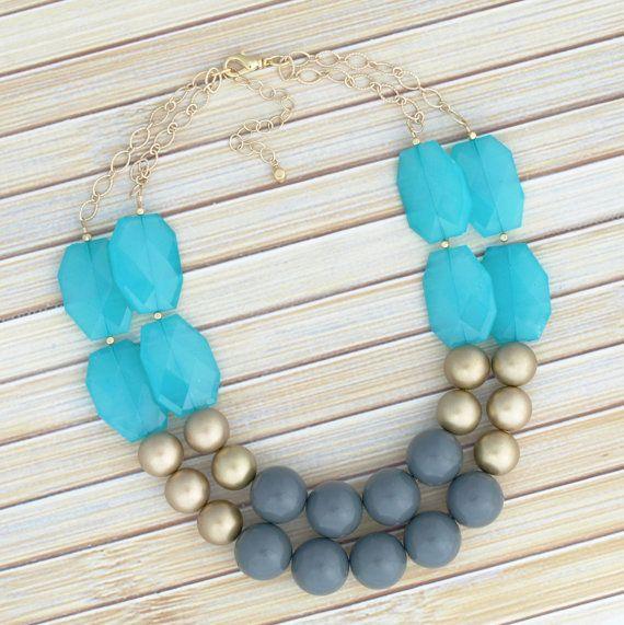 Anweisung Collier, glatte große klobige Runde Perlen Halskette, leicht einstellbare Choker-Halskette, Gold oder Silber Halsband Halskette