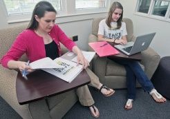 """Lab is so proud of Lee Olson '10! (pictured on right)  Article from the April 21, 2013 article in The Daily Reflector, """"ECU helps Learning Disabled Succeed""""     (Aileen Devlin/ The Daily  Reflector)"""