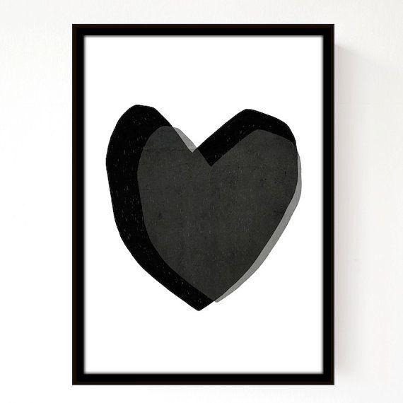 Layered Hearts A3 Print par seventytree sur Etsy, £25.00
