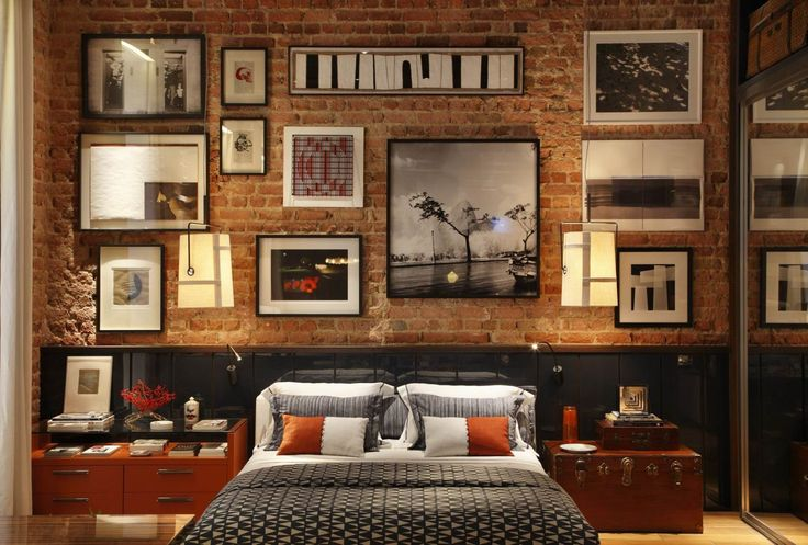 Industrial Style - solid brick wall decoration ideas interior design trends.