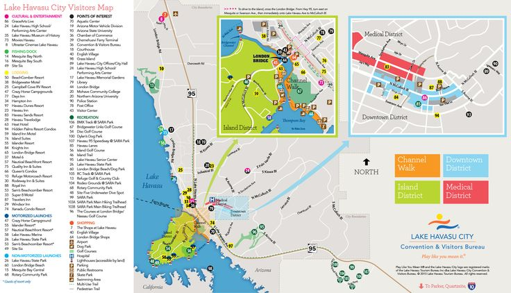 Lake Havasu Visitors Guide map