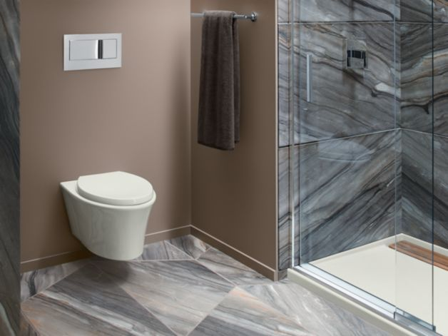 Kohler Toilets Uk : KOHLER K-6299 Veil Wall-Hung Toilet Bowl with Reveal Seat ...