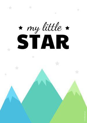 Plakat dla dzieci góry