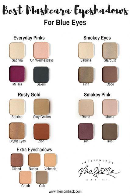 Best eye shadows for BLUE eyes! Maskcara Beauty eye shadows. Eye shadows to make…