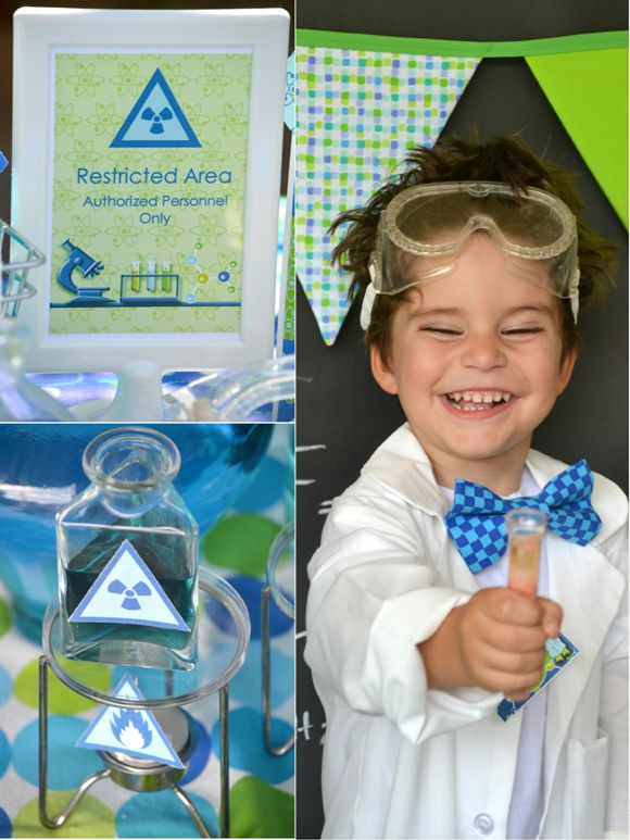 Mad Scientist Birthday Party Printables Supplies & Decorations