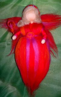 Wool fairy, Waldorf needle felted, handmade, personalized gifts.