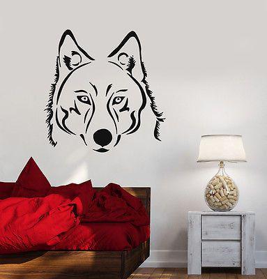 Wall Sticker Vinyl Decal Wolf Tatoo Animal Predator z508