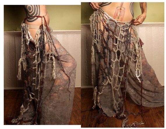 Mermaid Shawl Hip Scarf  Crochet wrap belt Fairy от CrudeThings