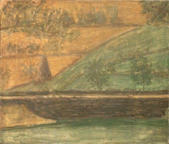 Giorgio Morandi: Landscape, 1932, oil on canvas. Firenze, Fondazione Roberto Longhi