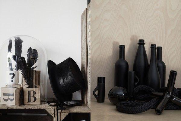 Styling: Lotta Agaton, Photo: Pia Ulin: Nice Style, Stylists Lotta, Lapin Blog, Pia Ulin, Black White, Matte Black, Photo, Fight Agaton, Colour Schemes
