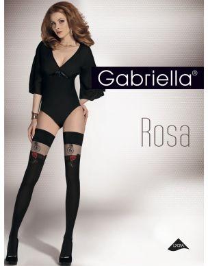 Pończochy Rosa 303 z różą kryjące Gabriella samonośne - Sklep Lamai.pl