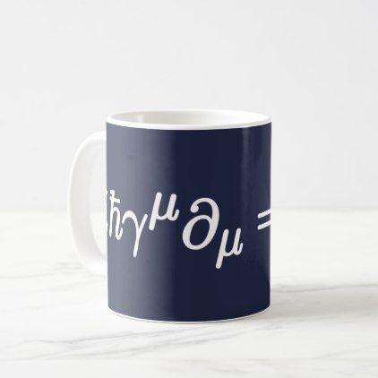 Dirac Equation Cute Science and Math Mug - original gifts diy cyo customize