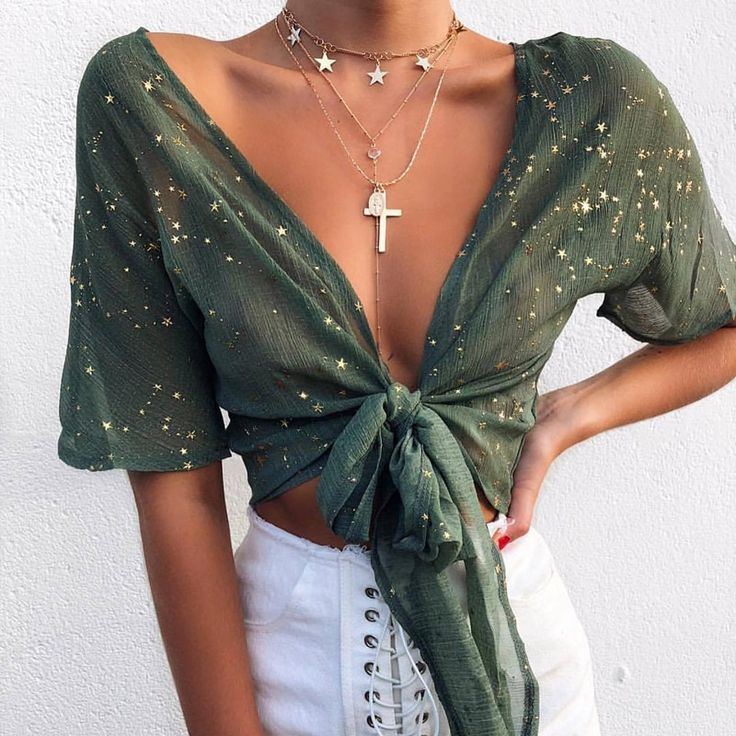 Chic Womens Summer Tops and Blouses 2018 Sequined Bling Bling Crop Top Shirts Wo…