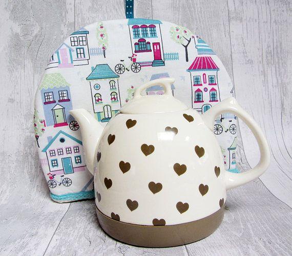 Handmade Fabric Tea Cosy  Teapot Cosy  Tea Cozy  Tea Warmer