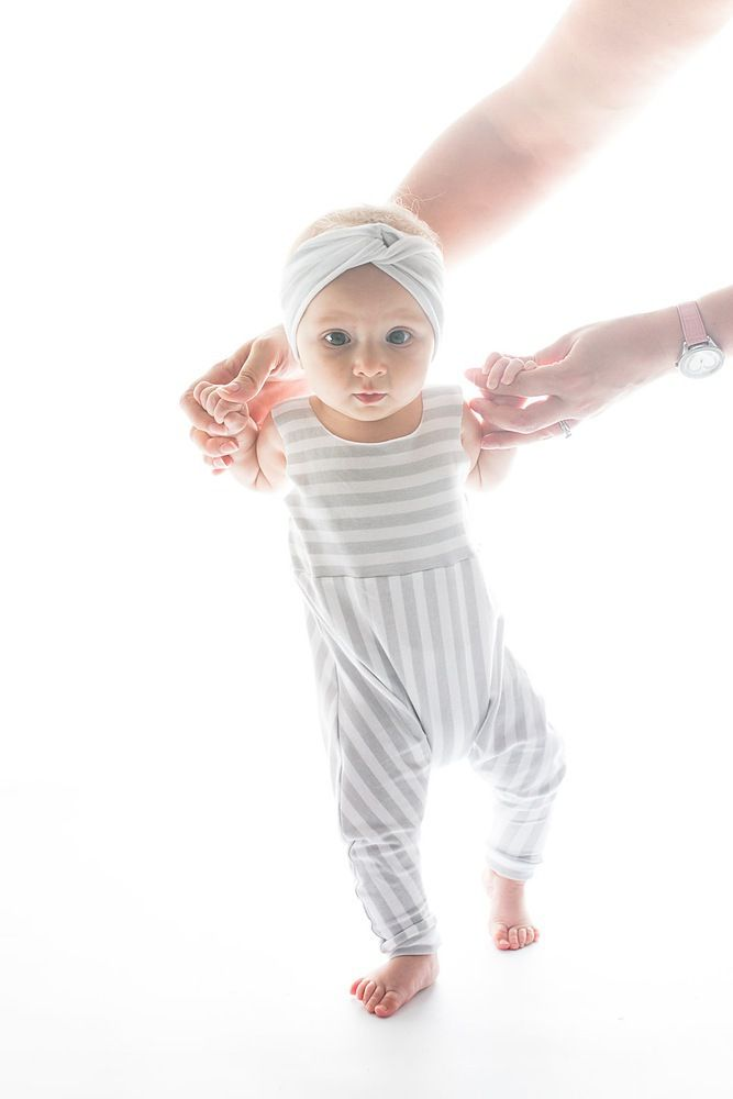 Harpa's Nest Small Stripe Harem Romper | Boho Baby Clothes | Tiny Style | Australia