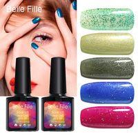 Any 10 colors UV hard salon gel nail polish manicure esmaltes permanentes clear coat glitter bling nail art cosmetics makeup