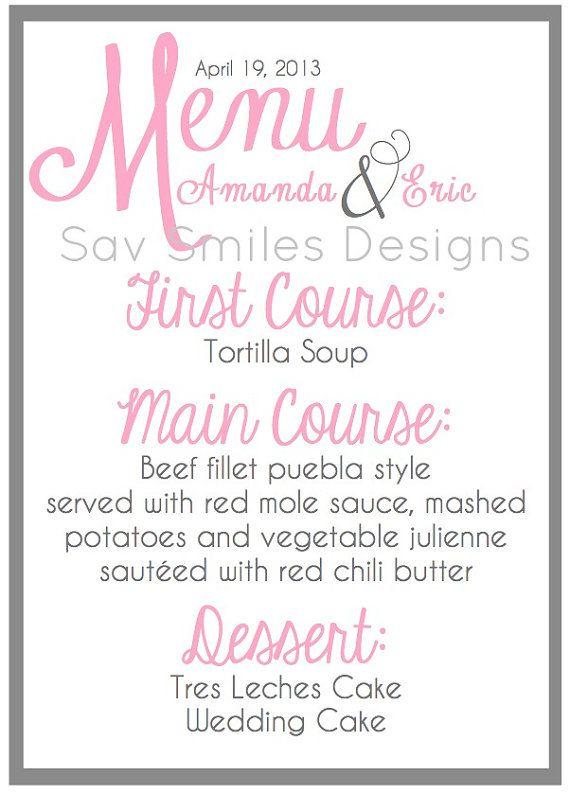 21 best Menu Cards images on Pinterest Wedding stationery, Bridal - fresh invitation wording reception