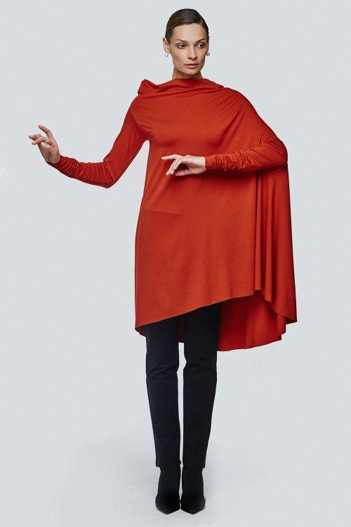 Lesel - Туника драпировка трикотаж с рукавом