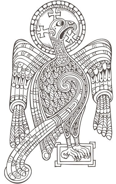 book of kells colouring page found on doverpublicationscom