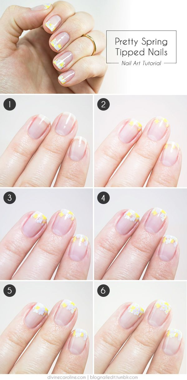 Fresh floral nail art for your tips spring bouquet floral nail art