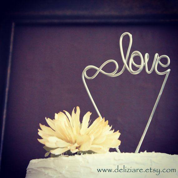 Infinite Love Wire Wedding Cake Topper