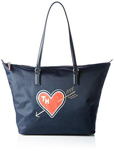 Tommy Hilfiger Poppy Heart Damen Handtasche Blau