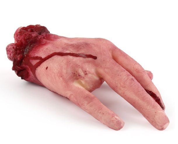 Halloween 4 Fingers Broken Hand Party Prop Scary Horror Blood Fake Body Parts
