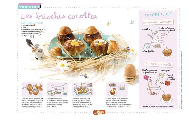 Les brioches cocottes: une recette de brioches salées à passer au four ... Miam! (Extrait du magazine Astrapi n°835, pour les enfants du 7 à 11 ans)