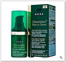NUXE Nuxuriance Krem przeciwzmarszczkowy pod oczy usta - krem na zmarszczki 15ml