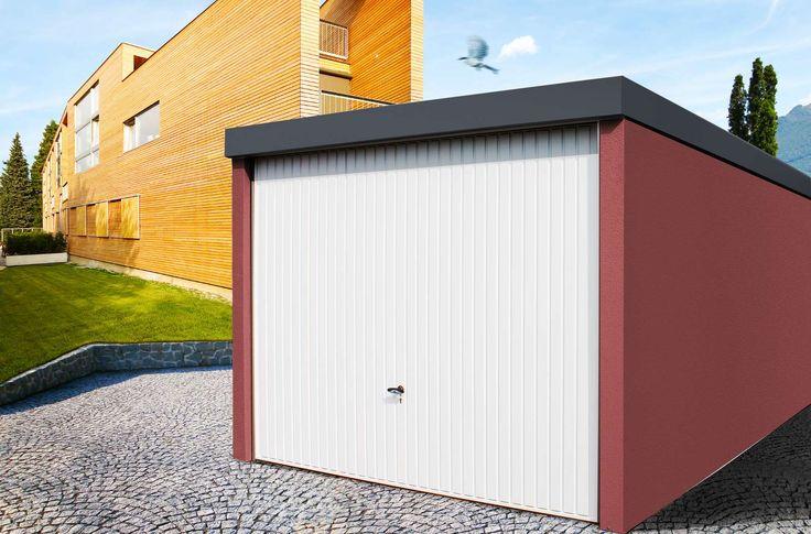 MyPort Einzelgarage rot   #Garage #Fertiggarage #Stahlgarage # Metallgarage #Doppelgarage #Einzelgarage #Wohnmobil #Caravan #Wohnwagen #Auto #Fahrrad #design #architecture #architektur #myport