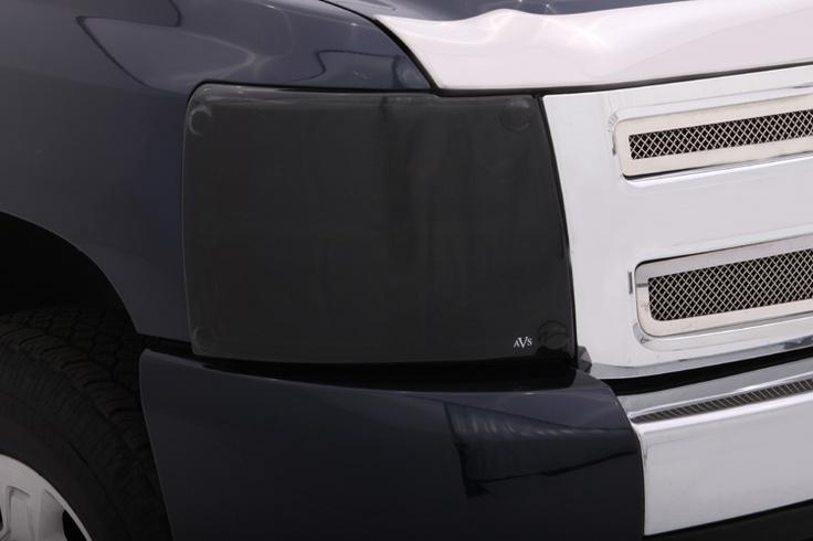 AVS Chevy Silverado Blackout Headlight Covers