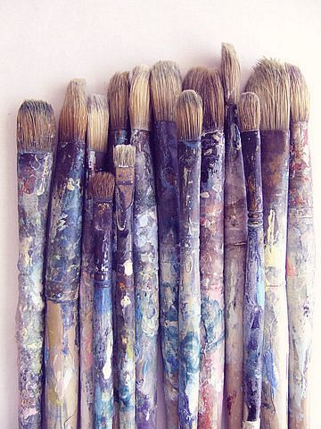 I love dirty used paintbrushes.