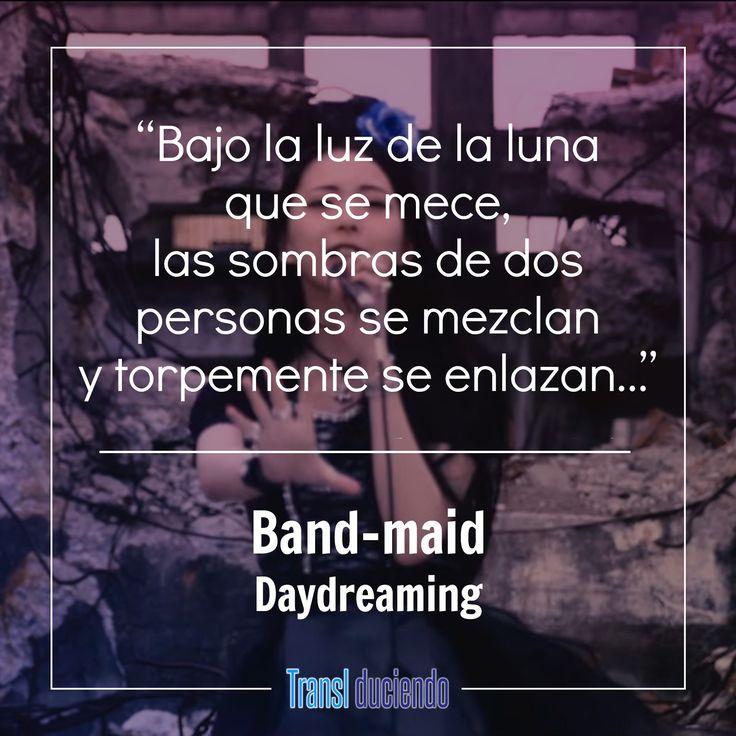 """Hoy queremos compartirte la traducción del sencillo más reciente de BAND-MAID, éste fue lanzado en este mismo año y lo trabajamos por sugerencia de un lector. Se trata de """"Daydreaming"""" que podrán disfrutar siguiendo el enlace a continuación:  https://goo.gl/D5cvGQ #BandMaid #Daydreaming #ChooseMe #JMusic #JRock  ¿Te gustaría que tradujéramos otra canción de este grupo? Por favor comparte si te gustó la traducción para que otras personas puedan disfrutarla y recuerda apoyar al artista…"""