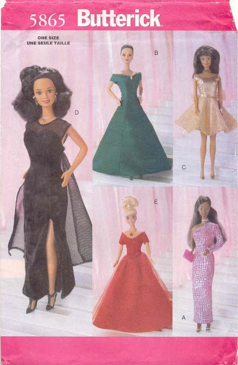 21 best Barbie Patterns - Butterick images on Pinterest | Sewing ...