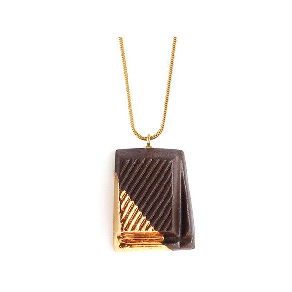 Tadam! Design Dark Chocolate With Gold Glaze ($195) ❤ liked on Polyvore featuring jewelry, yellow gold jewelry, 24k gold jewelry, 24-karat gold jewelry, 24k jewelry and 24k gold jewellery