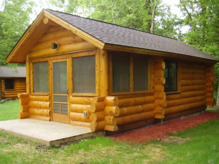 camper cabins at elm creek park reserve fall camping