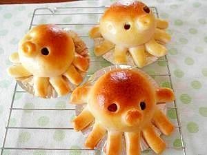 たこさんのあんぱん octopus shape bread