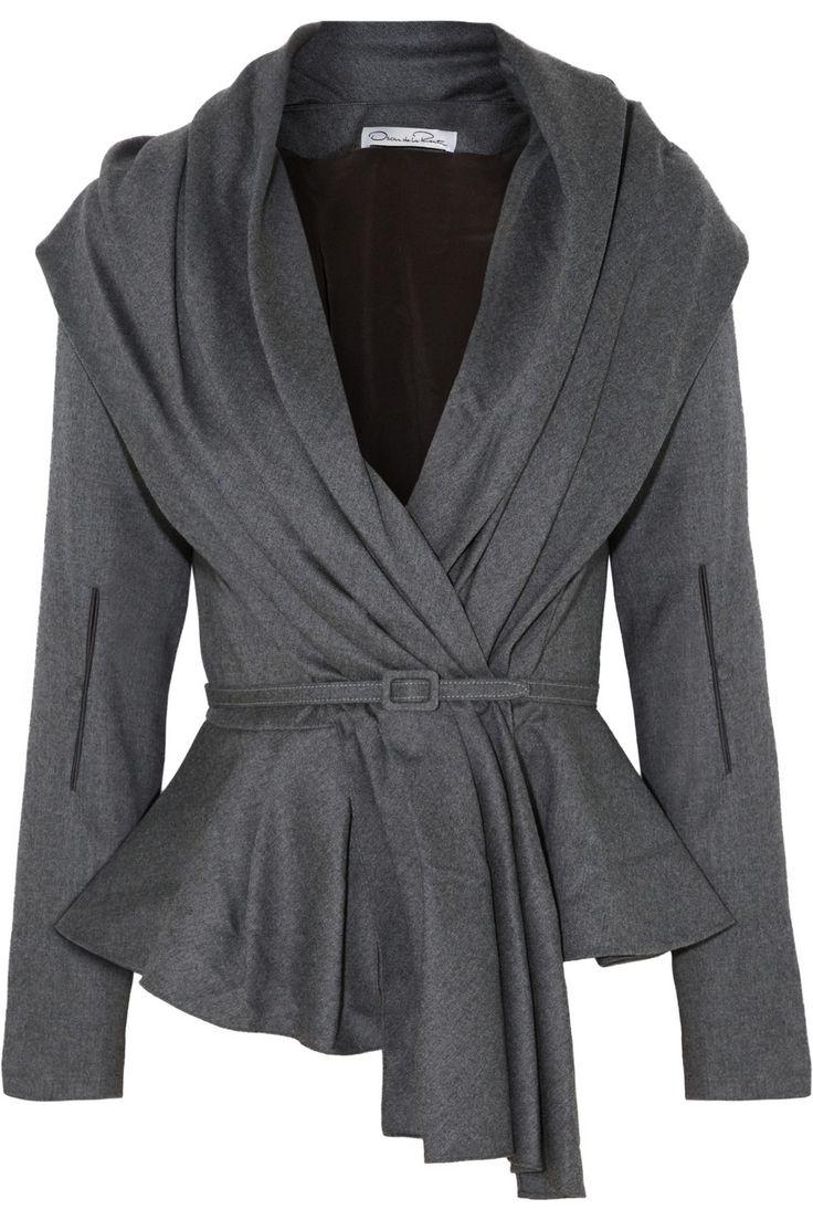 Oscar de la Renta|Skyline belted wool-blend jacket|NET-A-PORTER.COM