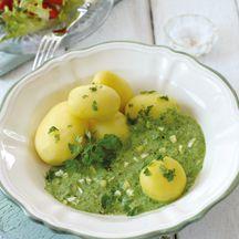 Kartoffeln mit grüner Sauce
