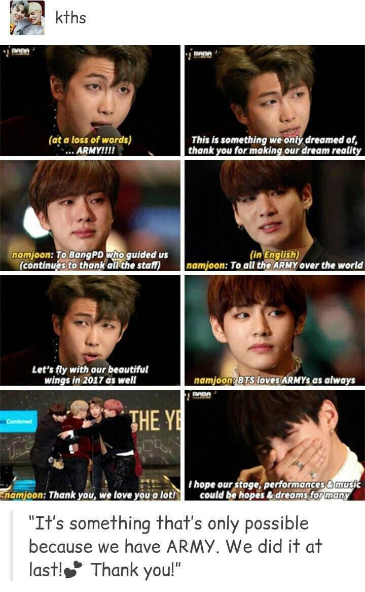 BANGTAN MADE HISTORY BY BEING THE FIRST GROUP NOT FROM ANY OF THE BIG3 COMPANY TO WIN ARTIST OF THE YEAR. #MAMA2016