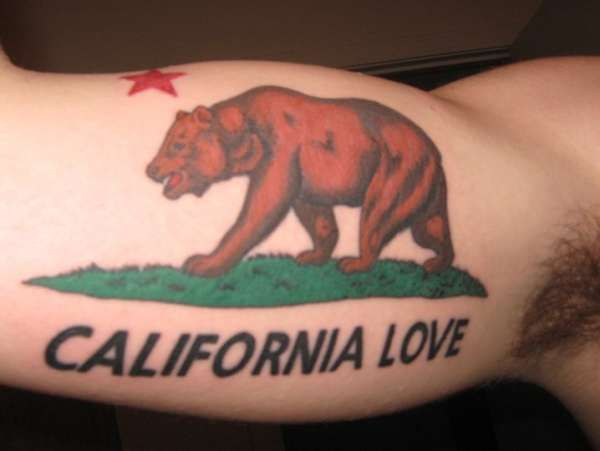 I really need to find an artist to create a unique California bear tattoo....this one is pretty straightforward, but I like it