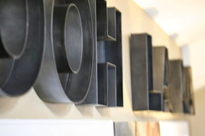 1000 images about mydaughters house on pinterest With hollow metal letters