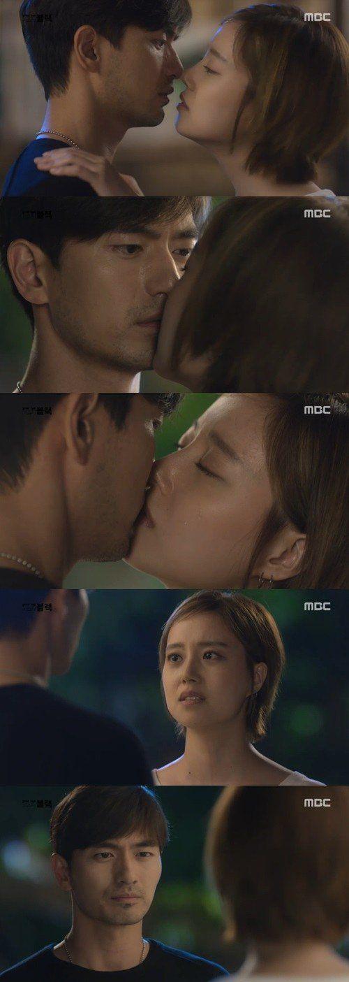 """[Spoiler] """"Goodbye Mr. Black"""" Moon Chae-won kisses Lee Jin-wook"""