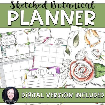 Organize your teacher planning binder with these beautiful recording sheets! Includes the basics to get your year started: -Class list  -Year at a glance planning page  -Class birthdays  -Monthly calendar pages  -Weekly planning pages  -Guided reading and