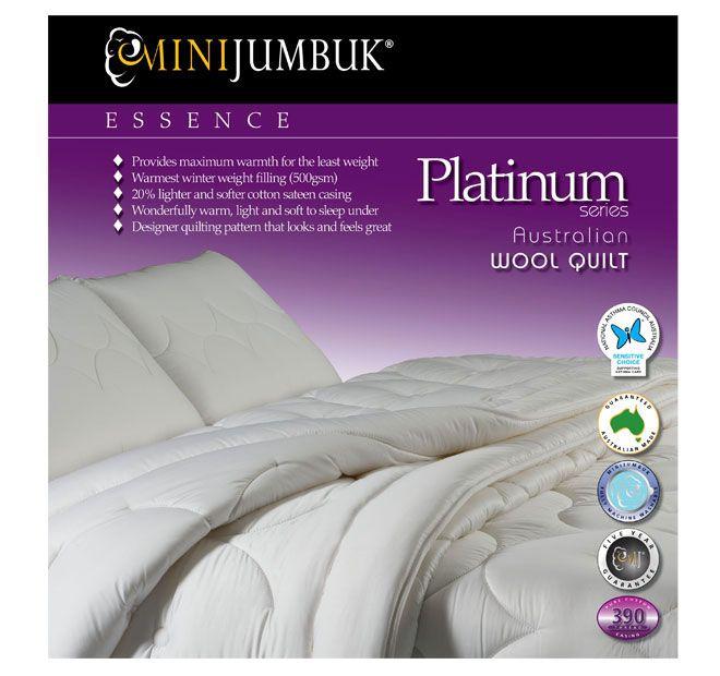 Mini Jumbuk Essence Platinum 500g Quilt Range