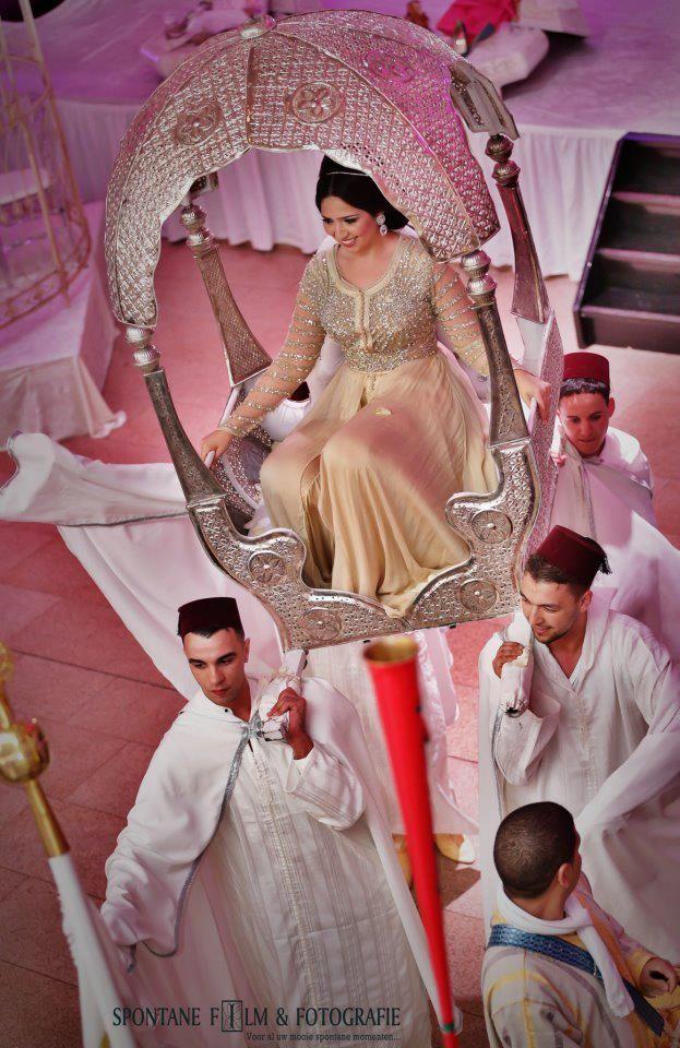 Bridal caftan, Moroccan wedding.