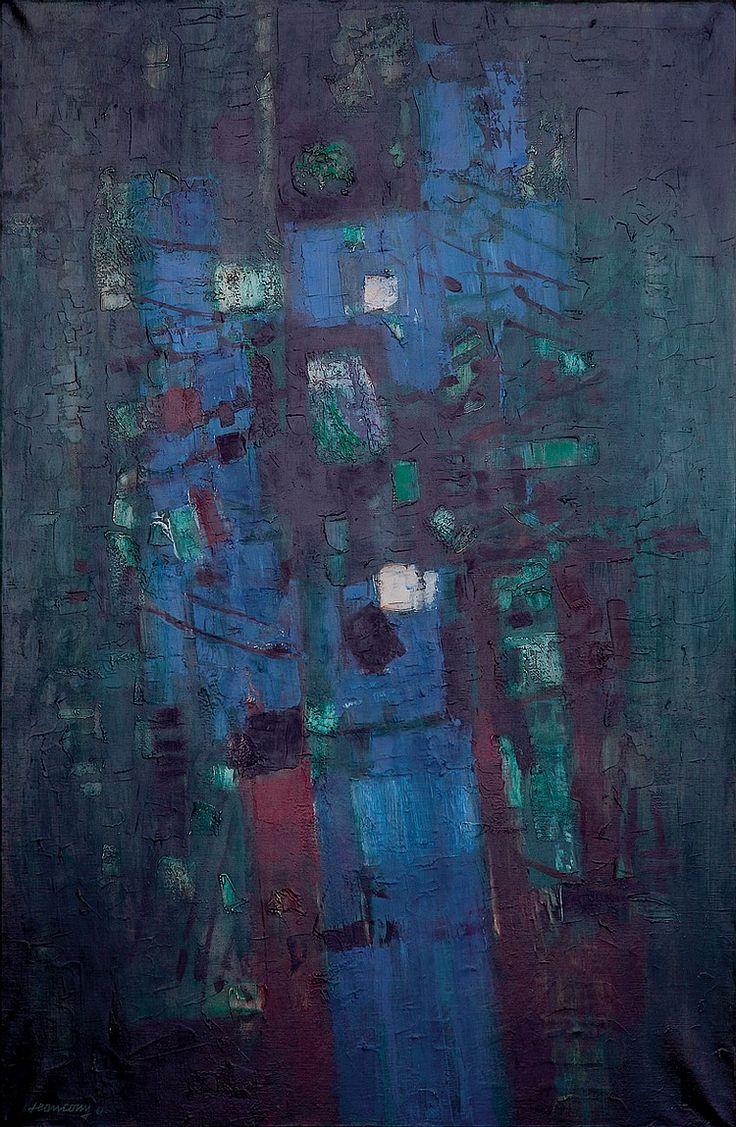 Jean COUY (1910-1983)  'Composition', c.1962...   Huile sur toile signée et datée en bas à gauche...